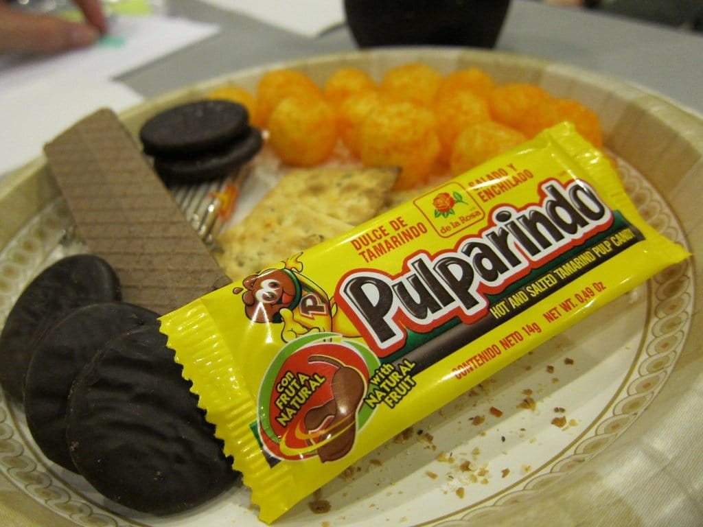 pulparindo bar on a plate
